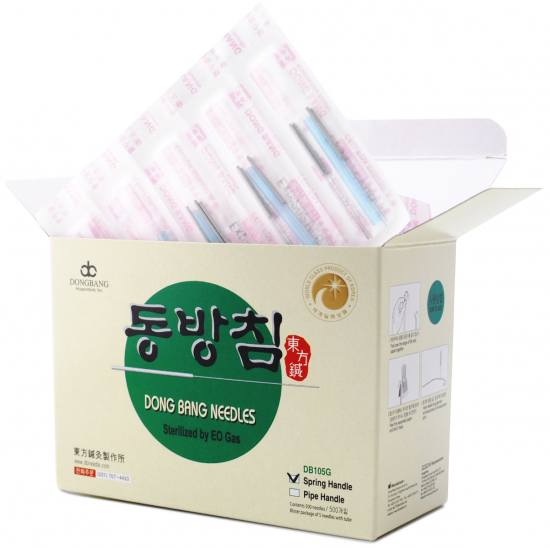 Akupunkturne igle Dongbang z navitim ročajem
